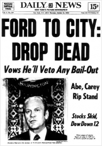 Ford to veto any bail-out
